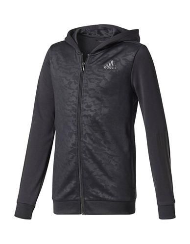 Adidas Climalite Track Zip Hoodie-BLACK-Large 89380903_BLACK_Large