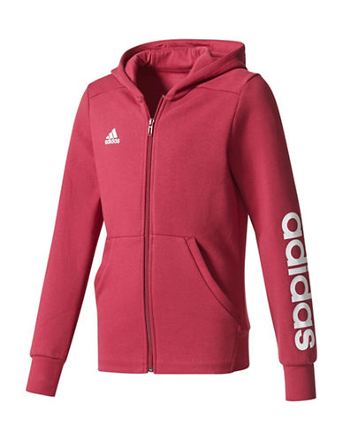 Adidas Classic Logo Hoodie-RED-7-8
