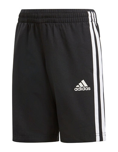 Adidas Three-Stripe Woven Shorts-BLACK-4T 89863015_BLACK_4T