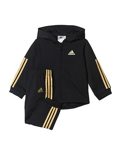 Adidas 3-Stripe Tracksuit Set-BLACK-18 Months