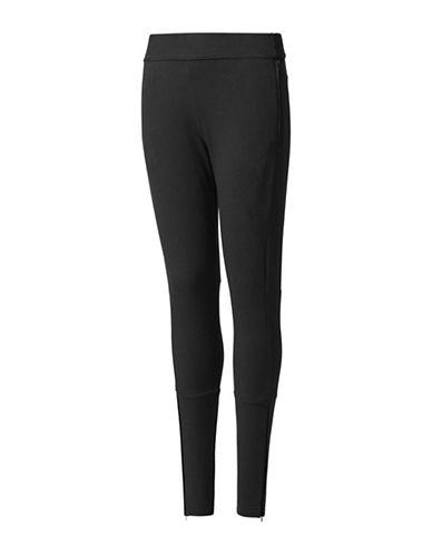 Adidas Striped Legging-BLACK-7-8