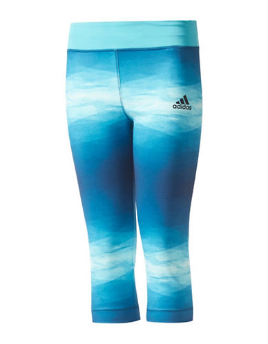 Adidas Printed Three-Quarter Training Tights-BLUE-Medium 89359295_BLUE_Medium