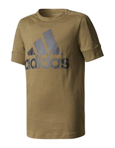 Adidas ID Short-Sleeve Cotton Tee-GREEN-Medium 89637286_GREEN_Medium