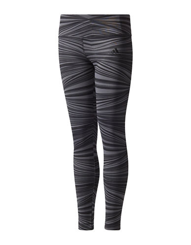 Adidas Printed Training Tights-GREY-Small