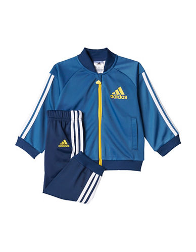Adidas Two-Piece Jacket and Pants Set-BLUE-12 Months