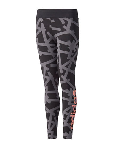 Adidas Linear Graphic Leggings-BLACK-Small