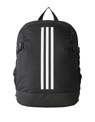 Adidas 3-Stripes Medium Power Backpack-BLACK-One Size