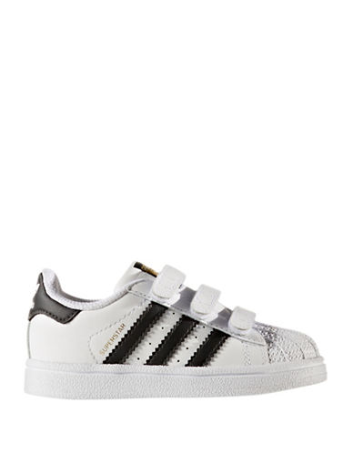 Adidas Superstar Leather Sneakers-BLACK-10