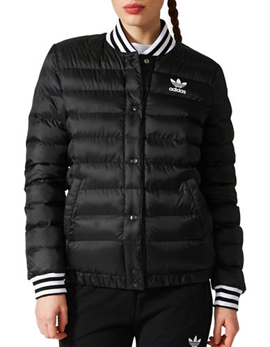 Adidas Padded Blouson Jacket-BLACK-Large
