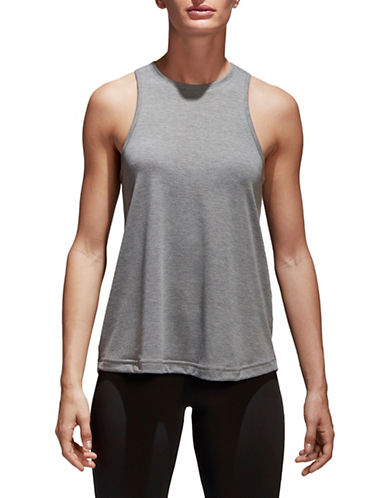 Adidas Cool Solid Tank Top-GREY-Small