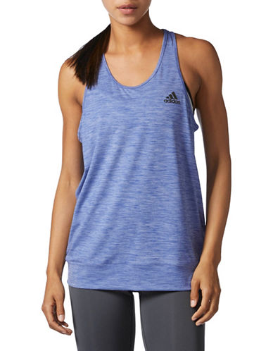 Adidas Climalite Banded Sport Tank-BLUE-Large