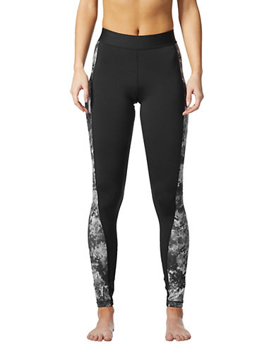 Adidas Elasticized Print Panel Leggings-BLACK-Large 89666872_BLACK_Large