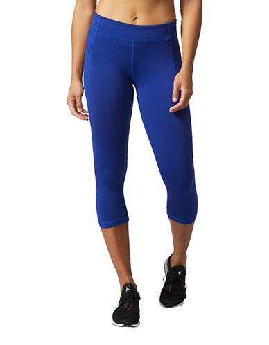 Adidas Three-Quarter Stretch Tights-BLUE-Small