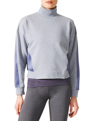 Stella Mccartney Yoga Long Sleeve Sweatshirt-BLUE-Medium