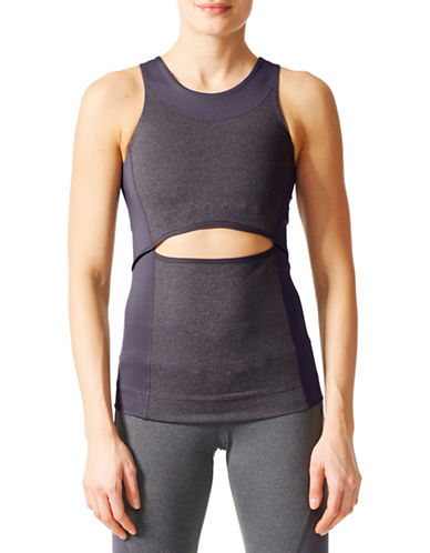 Stella Mccartney Yoga Tank Top-GREY-X-Small 89663567_GREY_X-Small
