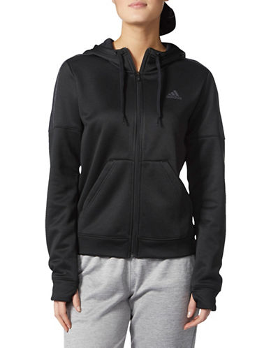 Adidas Classic Athletic Hoodie-BLACK-Large 89597128_BLACK_Large