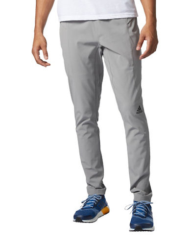 Adidas Athlete ID Woven Training Pants-GREY-X-Large
