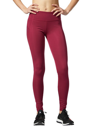 Adidas Rib-Panel Leggings-RED-Medium 89597056_RED_Medium