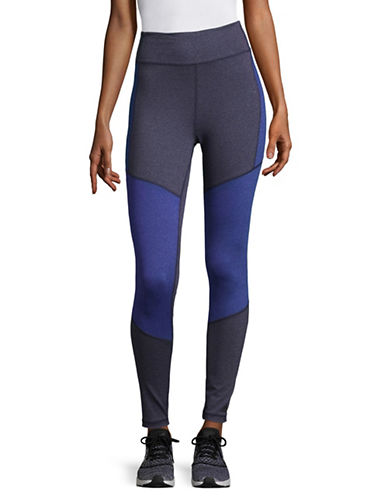 Adidas Colour Block  Climalite Tights-BLUE-Large