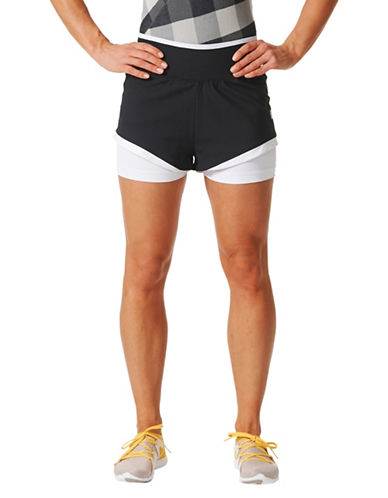 Stella Mccartney Logo Training Shorts-BLACK-Small 89514283_BLACK_Small