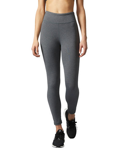 Adidas Climalite Training Long Tights-GREY-X-Small