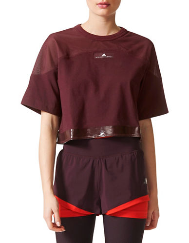 Stella Mccartney Cropped Short Sleeve Tee-RED-Large