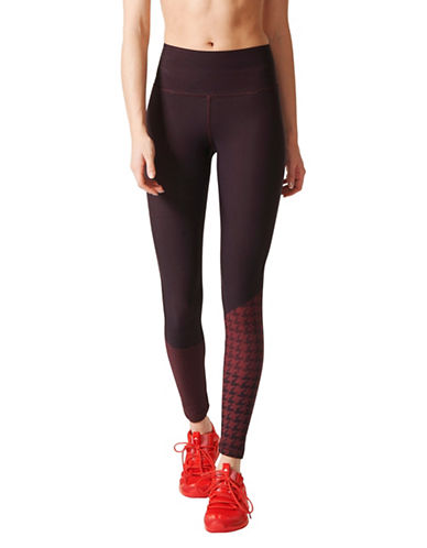 Stella Mccartney High-Rise Training Tights-RED-Large