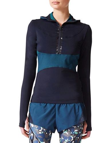 Stella Mccartney Hooded Running Jacket-BLUE-Small