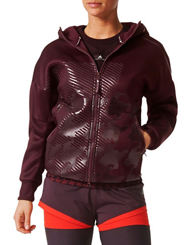 Stella Mccartney Long Sleeve Hooded Jacket-PURPLE-Large