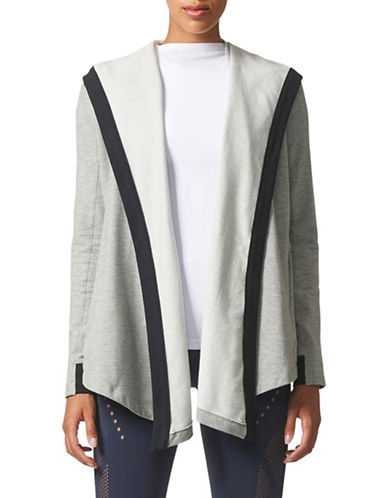 Adidas Wrap Me Up Cascading Cardigan-GREY-X-Large