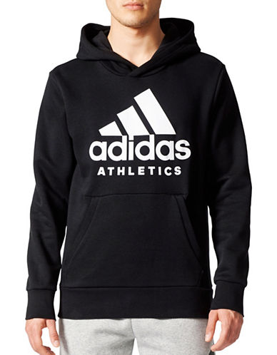 Adidas Sport ID Badge of Sport Hoodie-BLACK-XX-Large