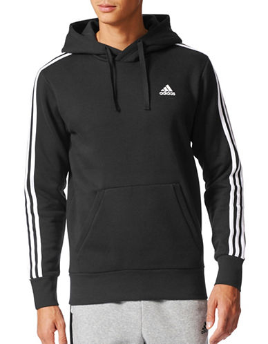 Adidas Essentials Pullover Hoodie-BLACK-Medium