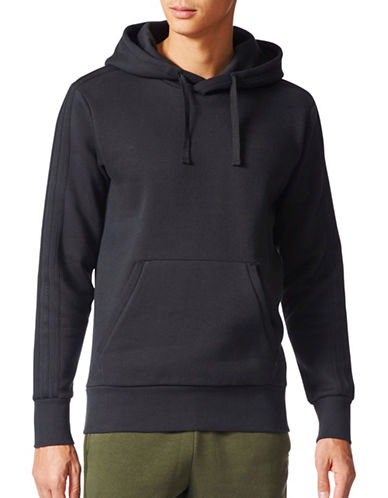 Adidas Essentials Pullover Hoodie-BLACK-X-Large