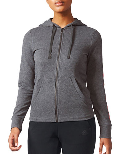 Adidas Climalite Essential Full-Zip Hoodie-GREY-Small 89383581_GREY_Small