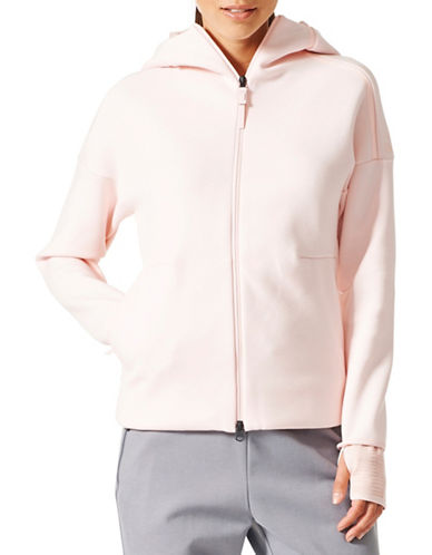 Adidas ZNE Pulse Hoodie-PINK-X-Small