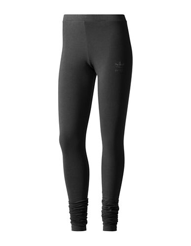 Adidas Ruching Leggings-BLACK-Small