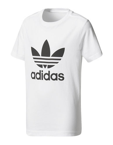 Adidas Trefoil Graphic Cotton Shirt-WHITE-Large