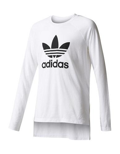 Adidas Trefoil Tee-WHITE-Large