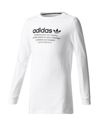 Adidas Nomad Long Sleeve Tee-WHITE-Large 89380894_WHITE_Large