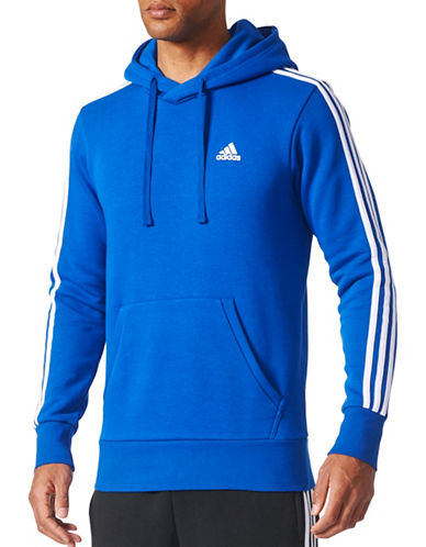 Adidas Essentials Pullover Hoodie-BLUE-Small