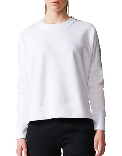 Adidas Glory Crew Neck Sweatshirt-WHITE-Medium