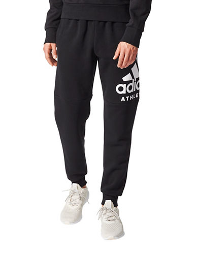 Adidas Tapered Sweatpants-BLACK-X-Large