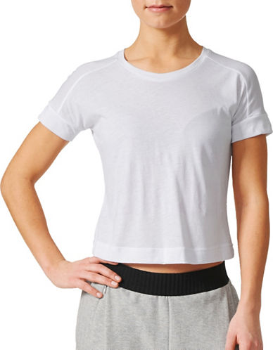 Adidas Baseline Cropped Tee-WHITE-Small 89472306_WHITE_Small