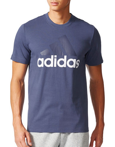 Adidas Essentials Cotton Tee-BLUE-Small