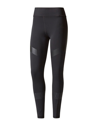 Adidas Ultimate Climalite Athletic Tights-BLACK-Large