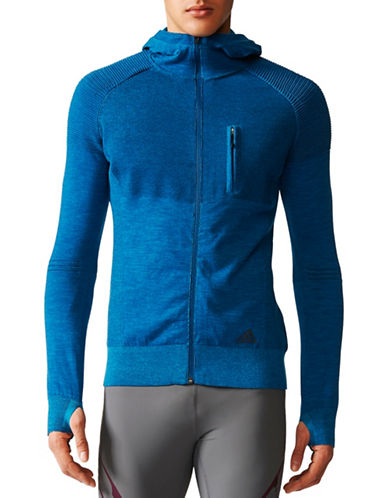 Adidas City Run Primeknit Jacket-BLUE-X-Small