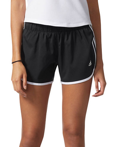 Adidas Woven Climalite Shorts-BLACK-Large