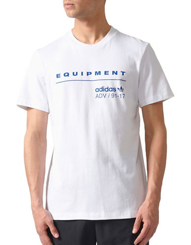 Adidas Originals Equipment Cotton T-Shirt-WHITE-Large