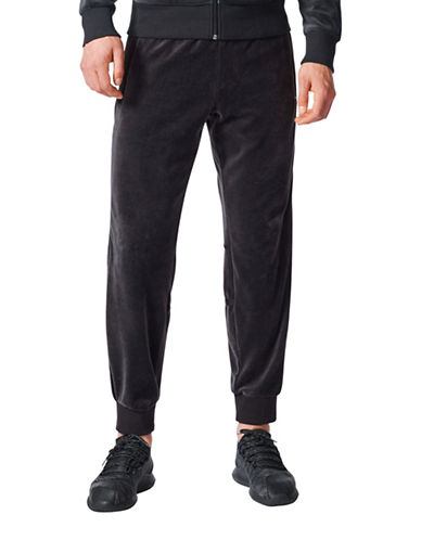 Adidas Challenger Velour Track Pants-BLACK-Small
