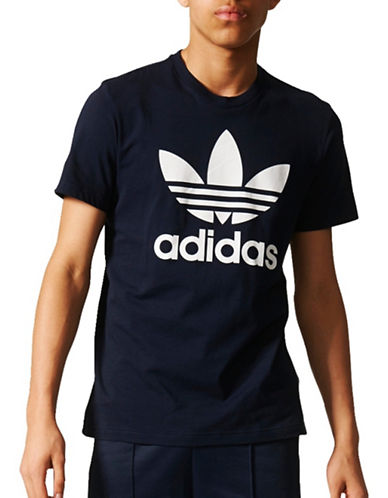 Adidas Originals Trefoil Cotton Tee-BLACK-X-Large